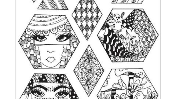 Dylusions Rubber Stamps - Quiltalicious