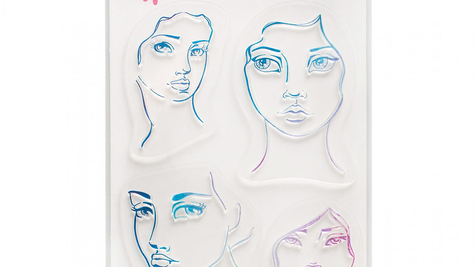 Jane Davenport Stamps - 4 Faces