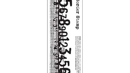 Darkroom Door Border Stamp - Numbers