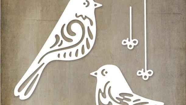 Paper Rose Die - Bird Ornaments