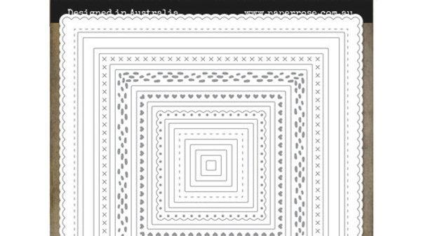 Paper Rose Die - Lots & Lots of Squares