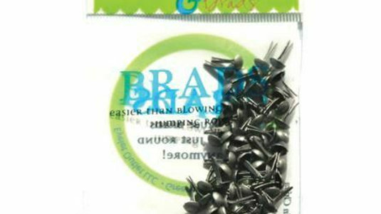 Brushed Silver Brads 4 mm 70 pieces