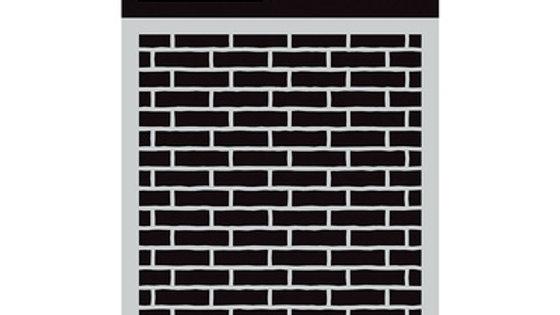 """D D Stencil small 4.5""""x 6""""  brick wall"""