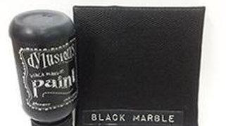 dylusions paints  Black Marble