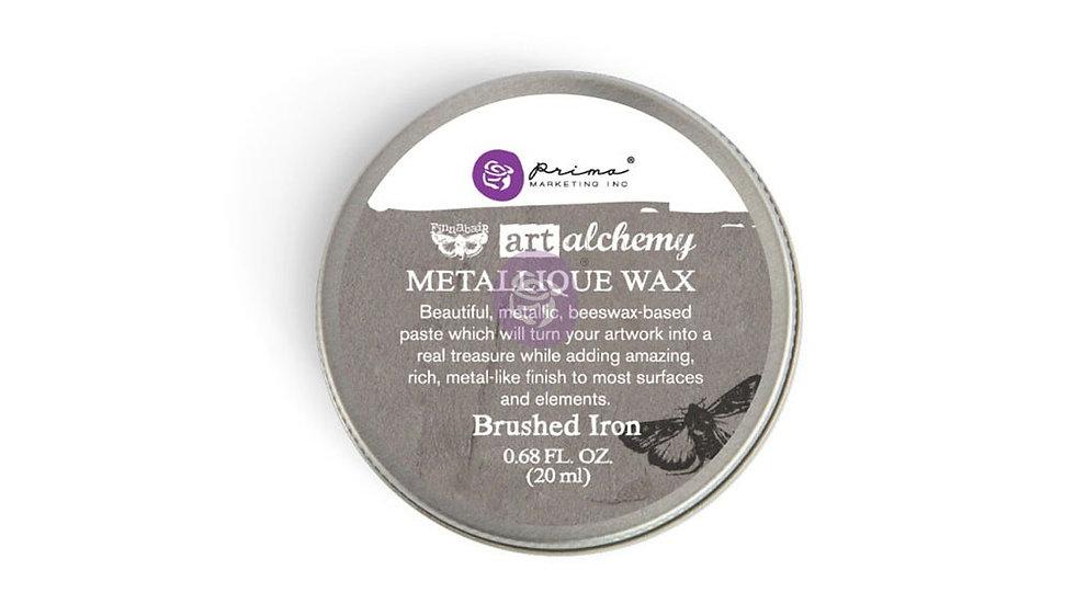Art Alchemy-Metallique Wax – Brushed Iron .68oz (20ml)