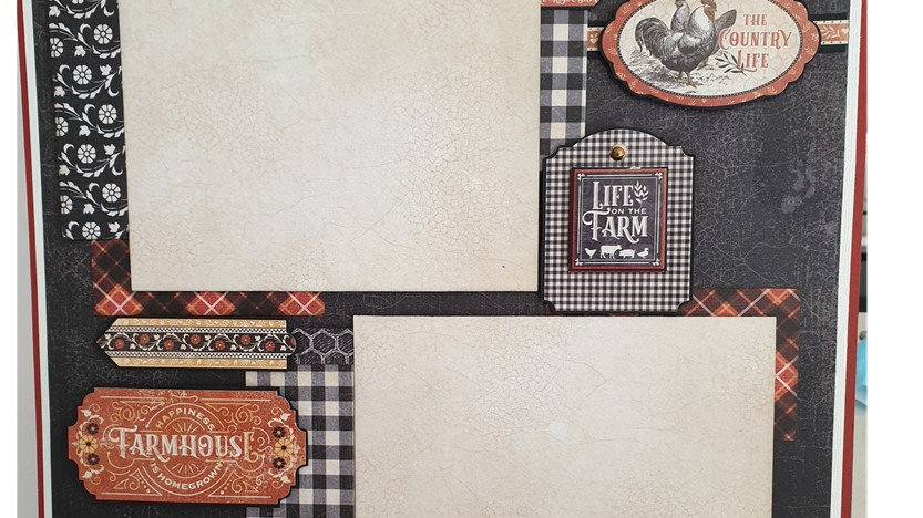 Graphic 45 Farm House kit 3 two page