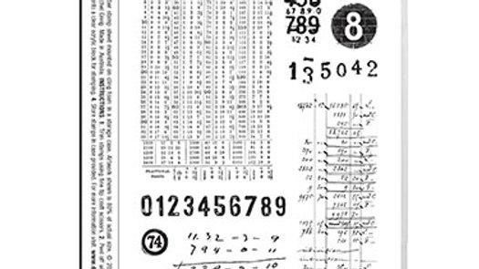 Darkroom Door Rubber Stamp - Number Medley