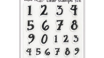 dylusions Dyalog Clear Stamps numbers