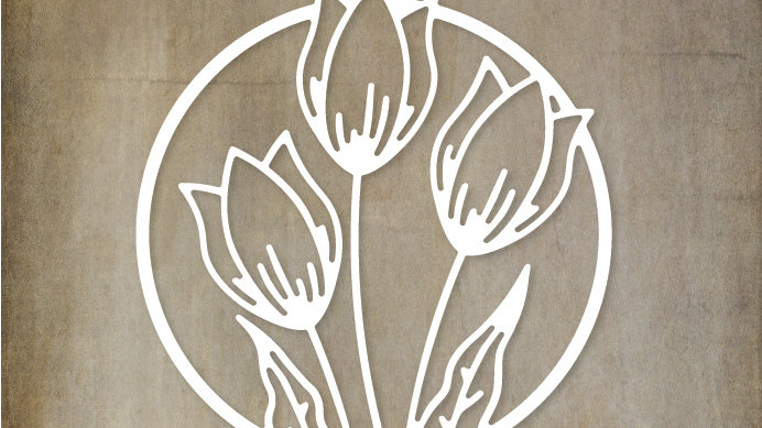 Paper Rose Metal Die - Tulip Circle Die