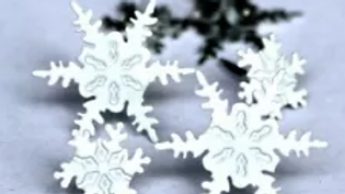 snow flakes   Brads 12  pieces
