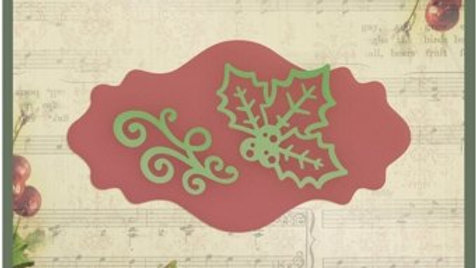 Intricutz Dies Christmas Label