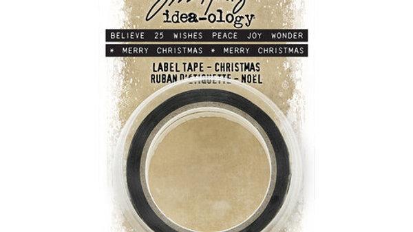 Ideal ology  Label Tape Christmas Noel