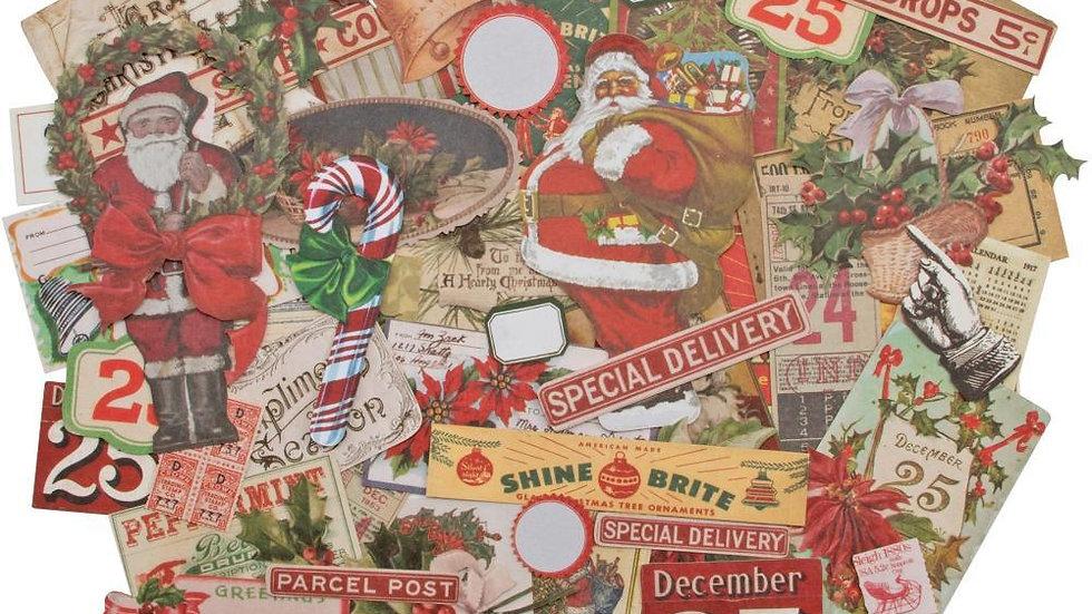 Tim Holtz Idea-ology Ephemera Pack - Christmas