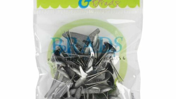 Blue    Brads 8mm 40 pieces