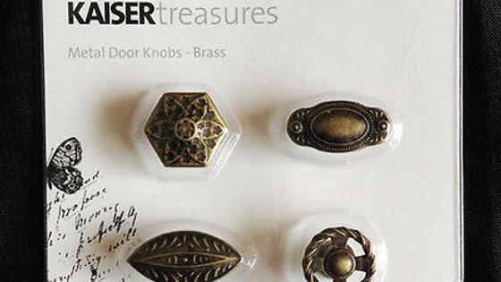 Kaisercraft Metal Door Knobs - Brass