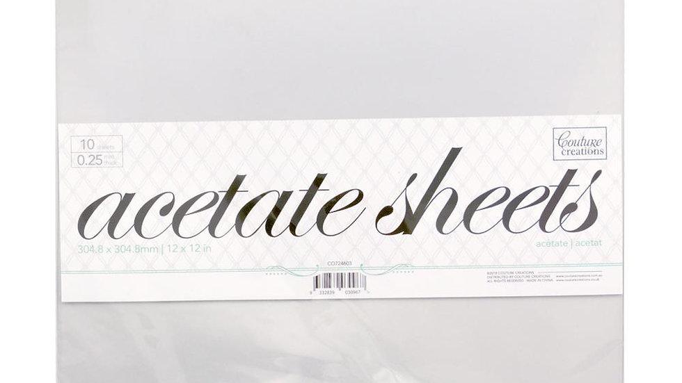Acetate Sheets    12 x 12 sheets