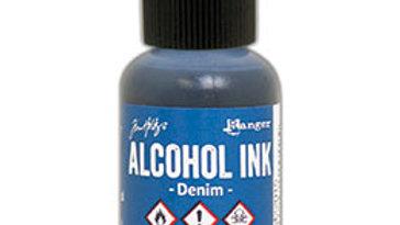 Alcohol Ink -Denim
