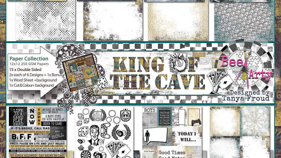 BeeArty - King of the Cave 12 x12  Paper Collection