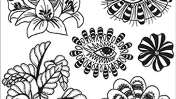 dylusions  Stamp  Foliage Fillers