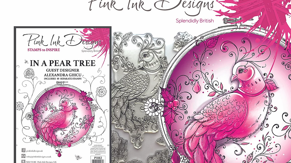 Pink Ink Designs Stamp - In a Pear Tree