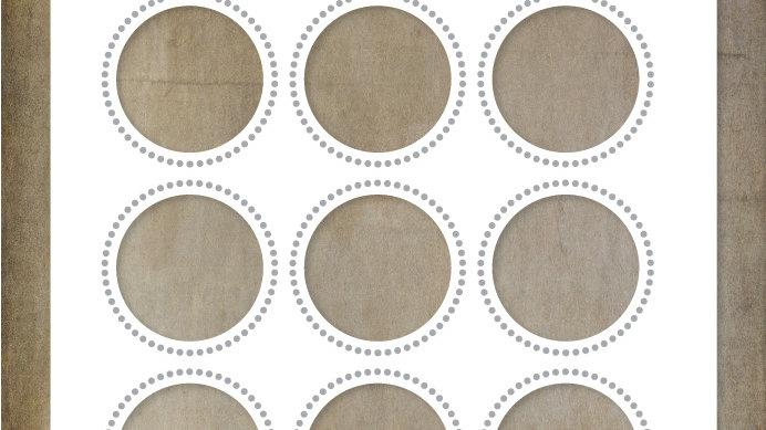 Paper Rose Metal Die - Circle Grid Coverplate 9