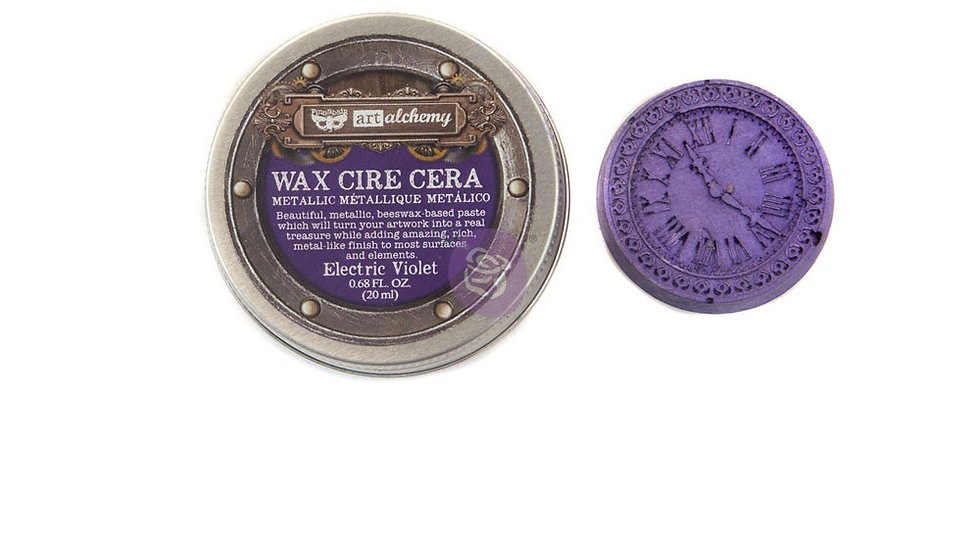Art Alchemy-Metallique Wax – Electric Violet 68oz (20ml)