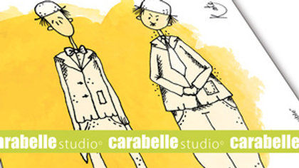 "Carabelle Art Stamp ""Herbes Folles et Texture """