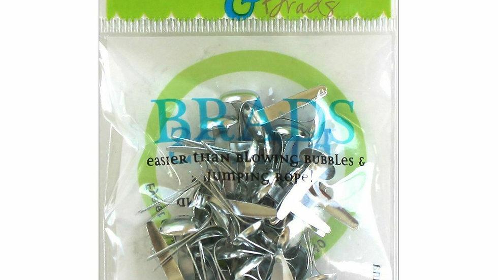 Silver   Brads 8mm 40 pieces
