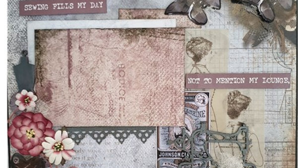 2 Page Kit  using 3 Quarter Sew lovely collection