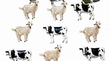 Cows   Brads 12  pieces
