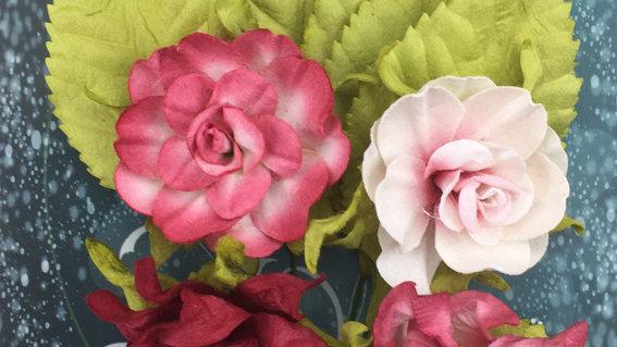 Green Tara Tea Roses red
