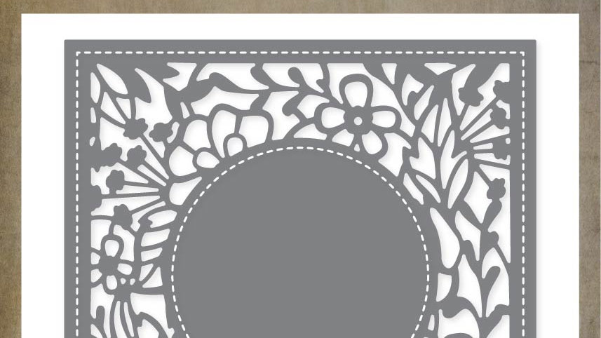 Paper Rose Metal Die - Amberley Floral Square Metal Die