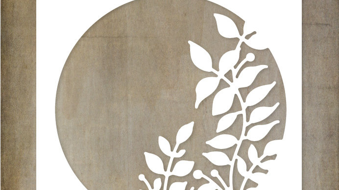 Paper Rose Metal Die - Leafy Circle Die
