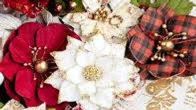 Prima Flowers christmas tartan