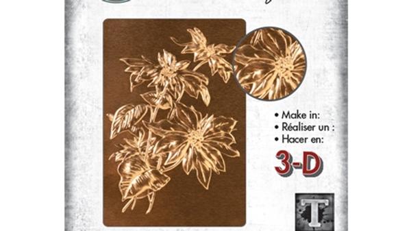 copy of Sizzix 3D texture Fades Poinsetitia