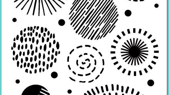 Colour Blast A5 Stencil - Circulate