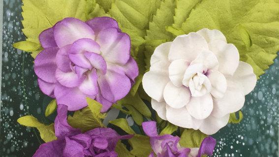 Green Tara Tea Roses Purple