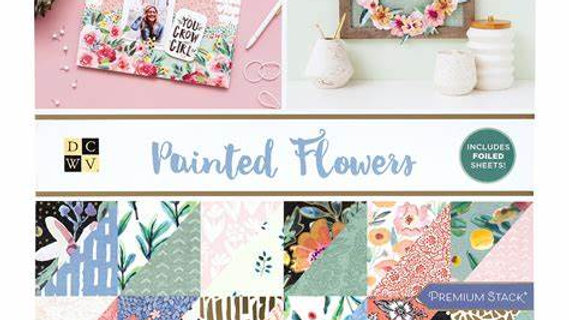 DCWV 12 x 12 Paper Pad Painted Flowers