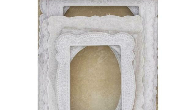 Tim Holtz  Base board lacy frames