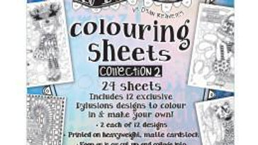 dylusions colouing sheet Collection 2