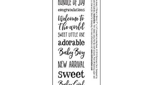 Darkroom Door Sentiment Stamp - Baby