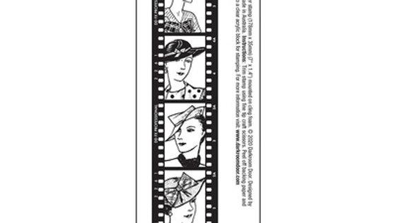 Darkroom Door Stamps  Film strip Ladies in hats