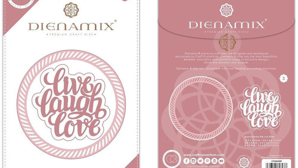 Dienamix  Live Laugh Love 3 piece die