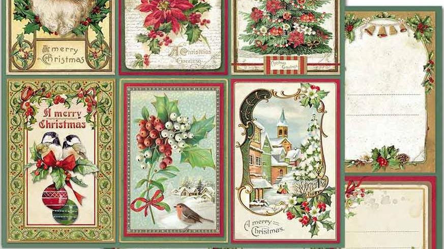 Stamperia card  classic Christmas fronts