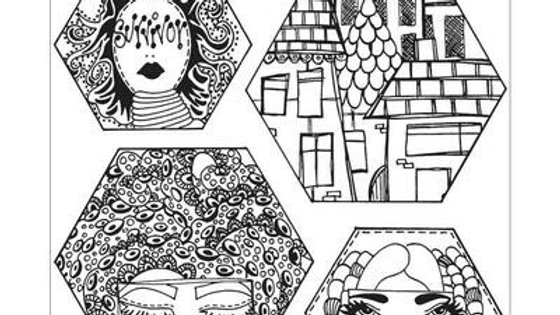 Dylusions Rubber Stamps - A Head Start