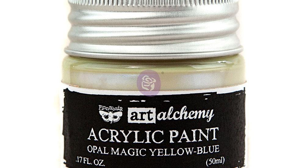 Art Alchemy- Acrylic Paint  Opal Magic Yellow - Blue   (50 ml)