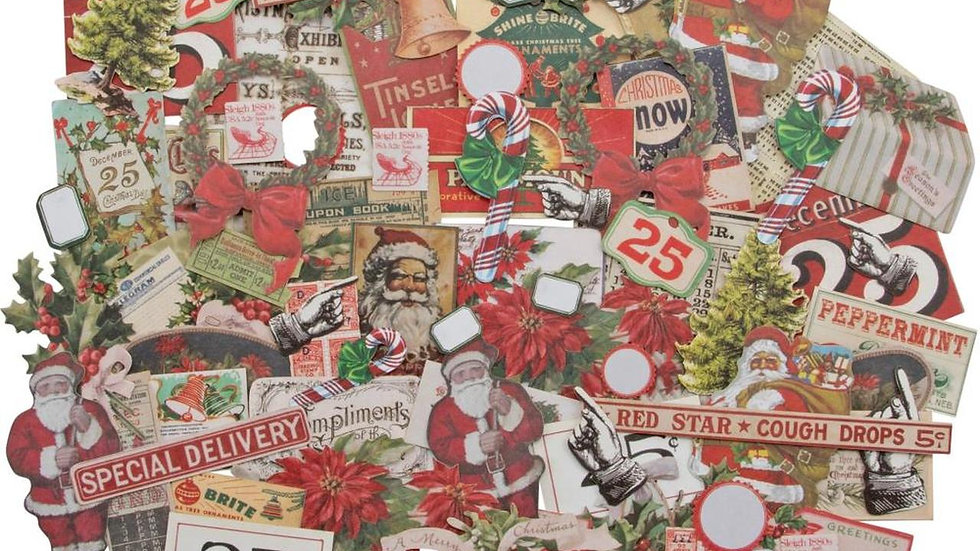 Tim Holtz Idea-ology Ephemera Pack - Christmas Snippets