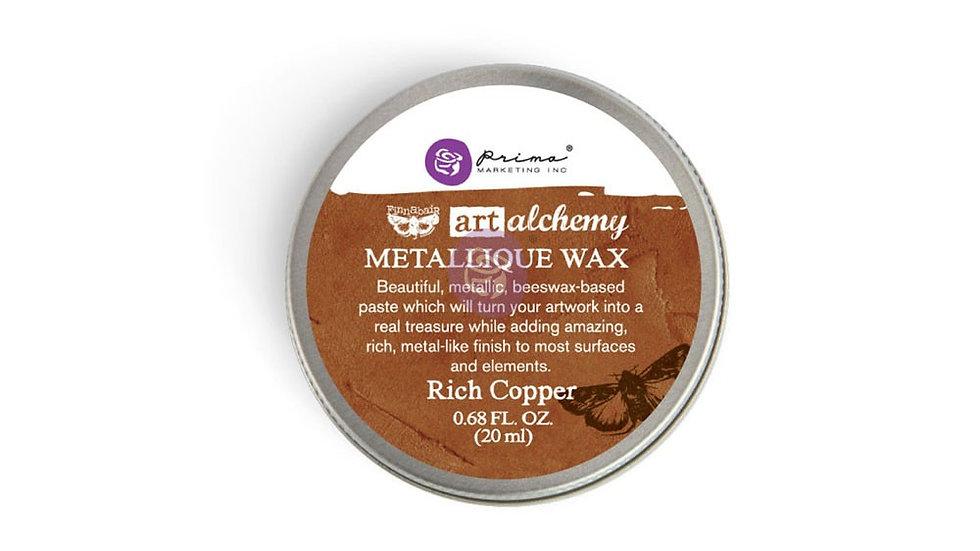 Art Alchemy-Metallique Wax – Rich Copper  .68oz (20ml)