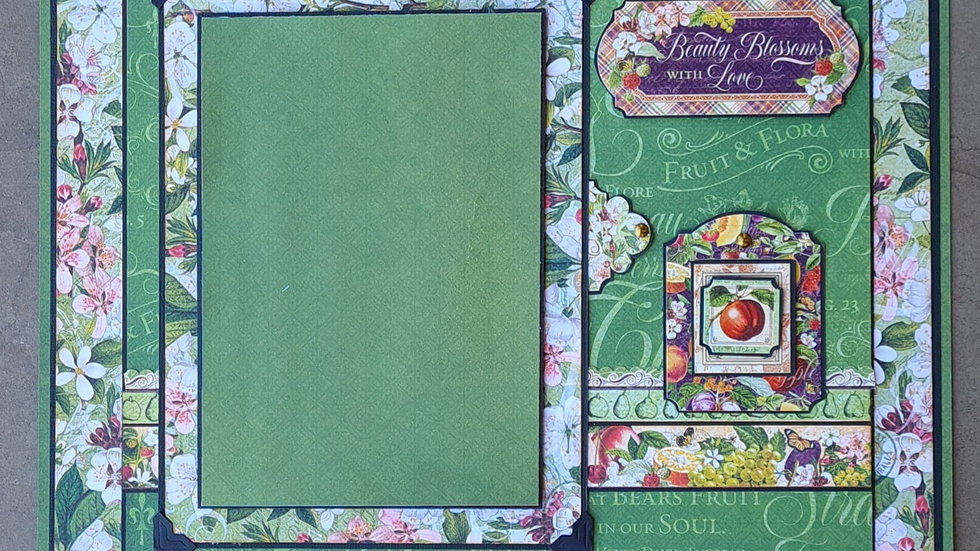 Graphic Fruit and Flora 2 page kit