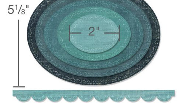 Sizzix Thinlits - Stitched Ovals